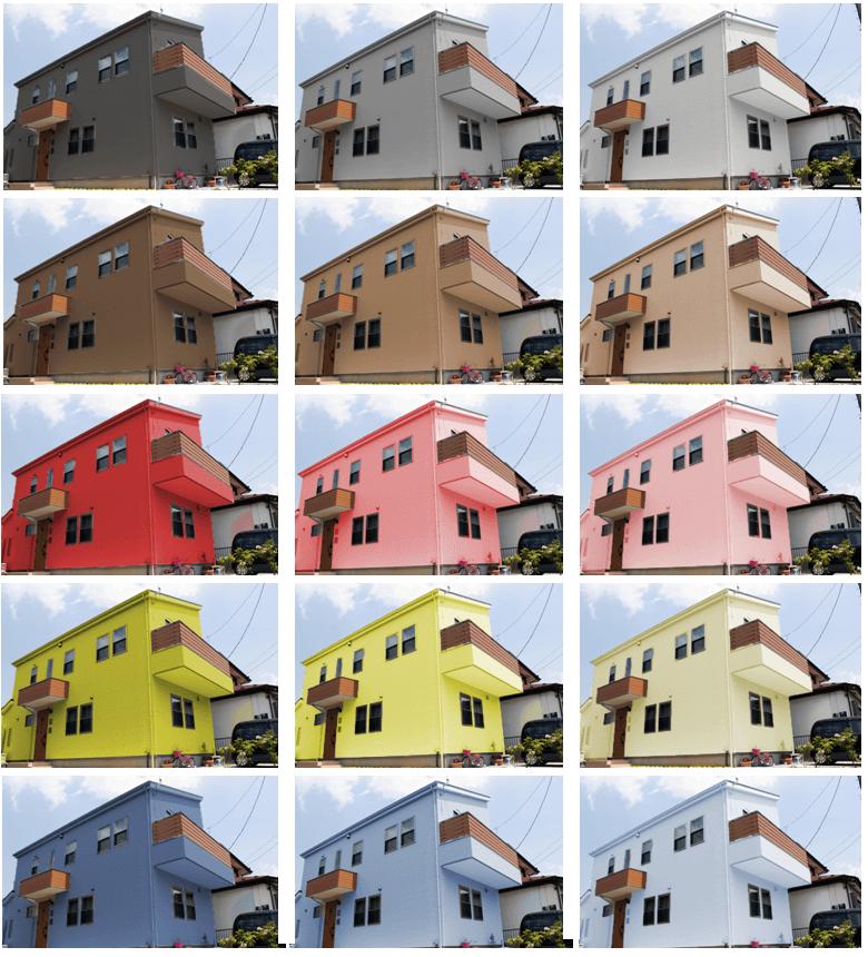 外壁塗装のカラーシミュレーション